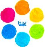 Rainbow watercolor vector circles Stock Image