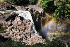 Rainbow Waterfall Royalty Free Stock Photo