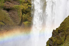 Rainbow at waterfall Royalty Free Stock Photo