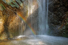 Rainbow and the waterfall Royalty Free Stock Image