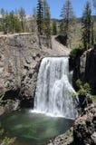 Rainbow waterfall. Beautiful rainbow waterfall in california mountains Royalty Free Stock Image