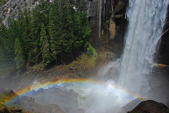 Rainbow and Waterfall Royalty Free Stock Image