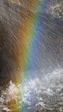 Rainbow on the waterfall. Close-up Royalty Free Stock Photography