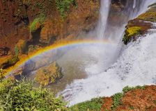 Rainbow and Waterfall Royalty Free Stock Photography