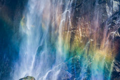 Rainbow waterfall  Royalty Free Stock Image