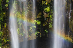 Rainbow waterfall Royalty Free Stock Photography