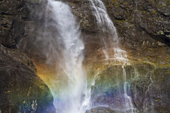 Rainbow at waterfall Royalty Free Stock Photography