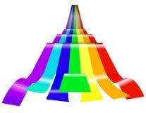 Rainbow wave. Isolated on white background Royalty Free Stock Image
