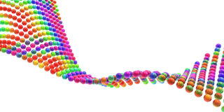 Rainbow wave. Of colorful spheres stock images
