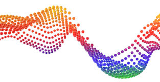 Rainbow wave Royalty Free Stock Images