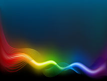 Rainbow  wave Stock Photo
