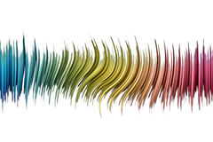 Rainbow sound wave. Rainbow wavy abstract, made with pastel color Royalty Free Stock Images