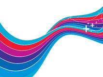 Rainbow wave background Stock Images