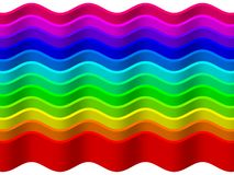 Rainbow wave background Royalty Free Stock Image
