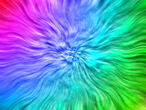 Rainbow-wave background. Abstract art Royalty Free Stock Image