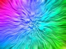 Rainbow-wave background Royalty Free Stock Image