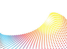 Rainbow wave glide. Ideal background image in rainbow colours with room to add your own text Stock Images