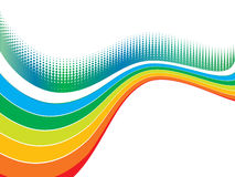 Rainbow wave halftone Stock Photos