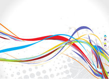 Rainbow wave line. Abstract rainbow wave line with sample text background Stock Photography
