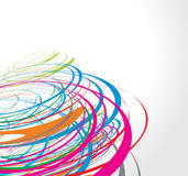 Rainbow wave line. Abstract rainbow wave line with space of your text, vector illustration Royalty Free Stock Photo