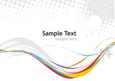 Rainbow wave line. Rainbow wave halftone line with sample text background Royalty Free Stock Photo