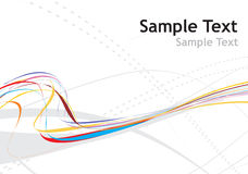 Rainbow wave line. With sample text background Royalty Free Stock Images