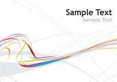 Rainbow wave line stock illustration