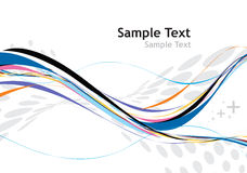 Rainbow wave line. With  halftone background Royalty Free Stock Image