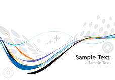Rainbow wave line royalty free illustration