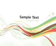 Rainbow wave line. With sample text background Royalty Free Stock Photography