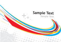 Rainbow wave line. With sample text background Stock Photography