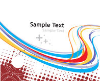 Rainbow wave line. With sample text background Stock Photos