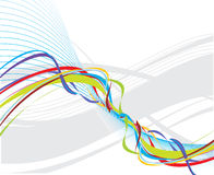 Rainbow wave line Stock Photos