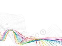 Rainbow wave line background Stock Photography