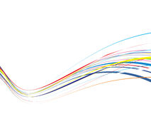 Rainbow wave line background Royalty Free Stock Photography