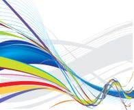 Rainbow wave line background Stock Images