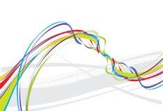Rainbow wave line background Royalty Free Stock Image