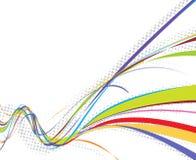 Rainbow wave line background Royalty Free Stock Photos
