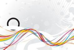 Rainbow wave line background Royalty Free Stock Photo