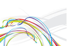 Rainbow wave line background Royalty Free Stock Images