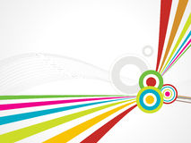 Rainbow wave line background with circle Stock Photos