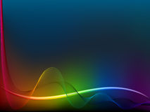 Rainbow  wave lines Stock Photography