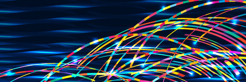 Rainbow wave sea banner RGB Royalty Free Stock Photos
