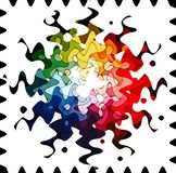 Rainbow in waves. Shot of rainbow coloured paper and the effectbrowser gave it this form stock images