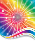 Rainbow waves Stock Photo