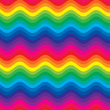Rainbow waves. Computer generated colorful rainbow waves Royalty Free Stock Images
