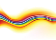Rainbow waves background Royalty Free Stock Photos
