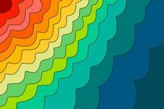 Rainbow waves background stock illustration