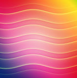 Rainbow Wavy Color Bars Stock Photos