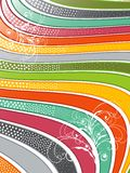 Rainbow wavy lines swirls. Retro glossy rainbow wavy lines with swirls Royalty Free Stock Photography